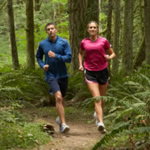 8 two people trail running